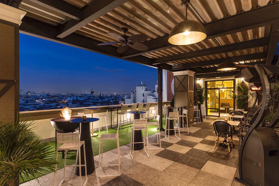terraza hotel emperador madrid lujo