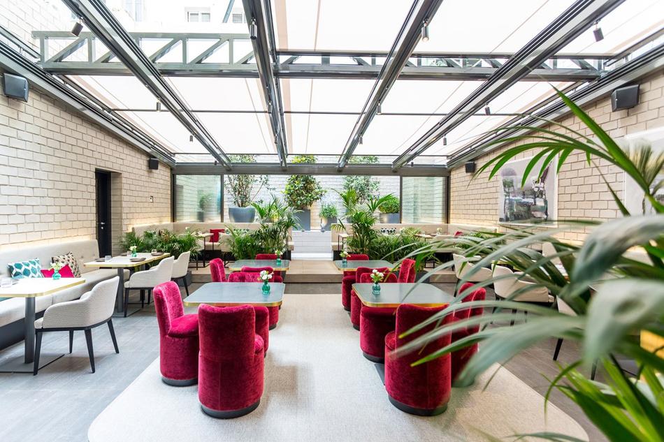 restaurante guillermina Jardin hotel pavillons chamberi