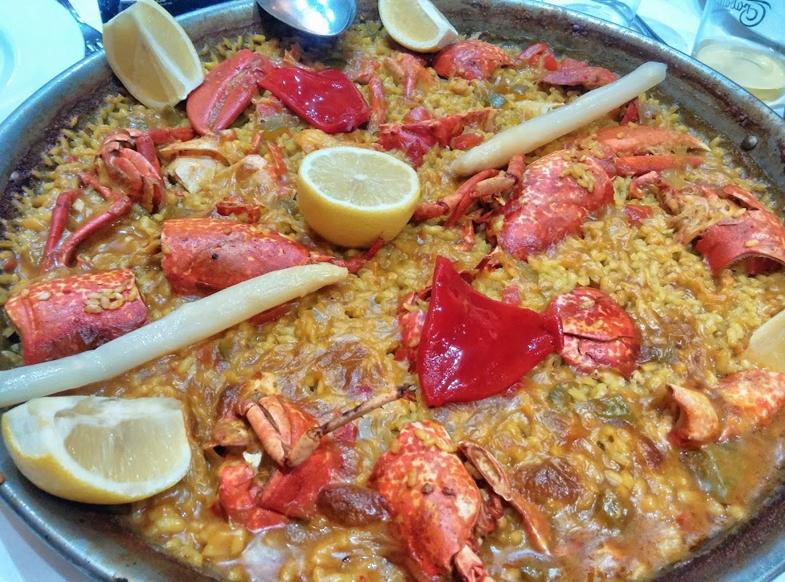 la_chalana_paella de marisco madrid