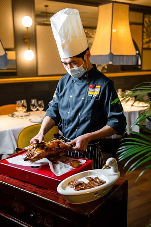 Restaurante chino hutong pato horno