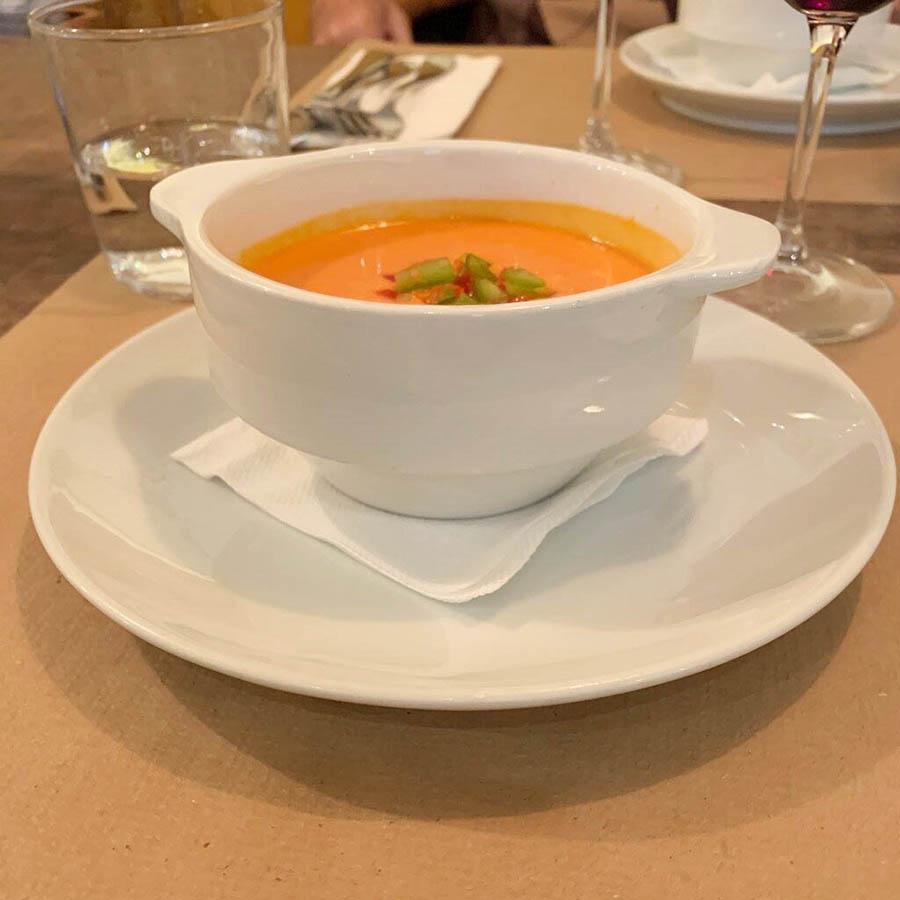Restaurante Quelles Madrid Gazpacho