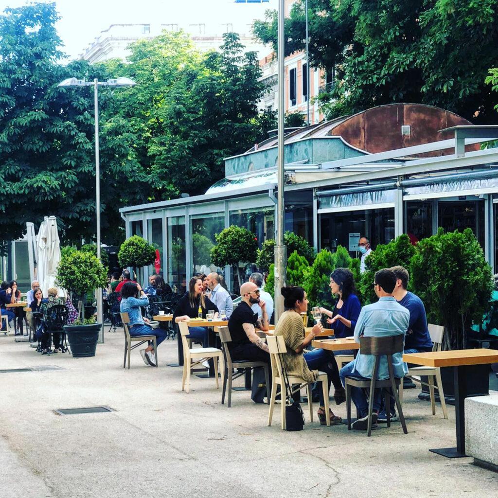 el cafe gijon terrazas de castellana en madrid