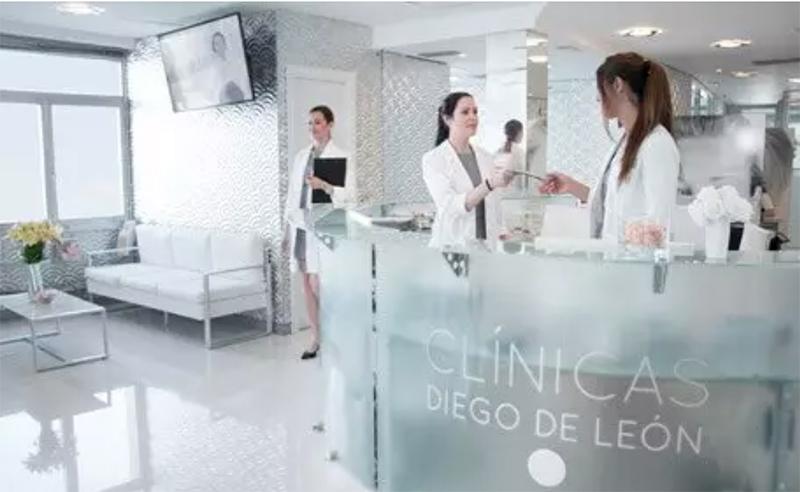 Recepción de Clinica estética Diego de León