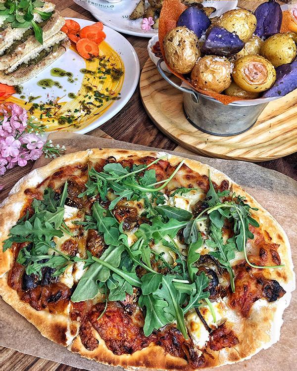 Pizza vegetariana y vegana de Superchulo