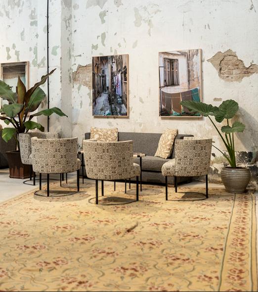 salon vintage de Garaje Lola en Madrid
